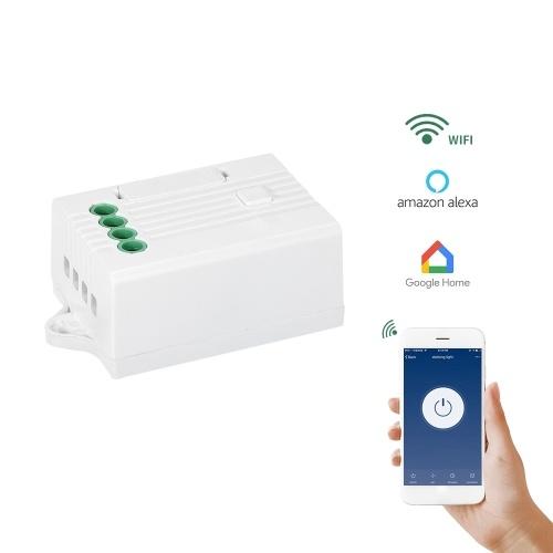 Беспроводной Wi-Fi APP Remote Control Light Switch Receiver Работает с Amazon Alexa Google Home Echo Voice Control Получающий контроллер AC85V-260V