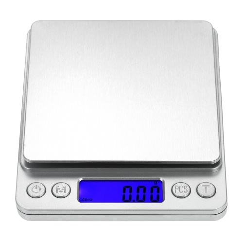 500/0.01g Accurate Kitchen Scale High-precision Jewelry Scale Mini Food Scale Electric Kitchen Scale with Two Trays Kitchen Baking
