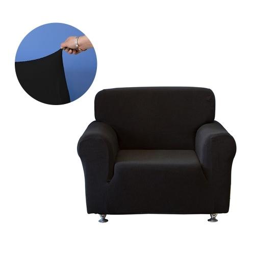 Универсальный полиэстер Spandex Растяжимый диван-обложка без бретелек Чехол Чехол для полотенец Защитный коврик для спальни 1-местный диван - белый