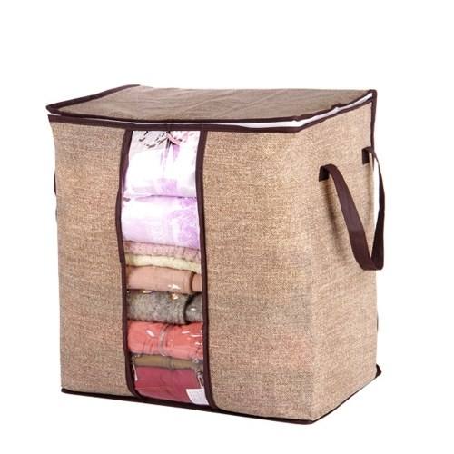 Non-woven Portable Quilt Blanket Clothes Storage Bag Moistureproof Dustproof Stuff Bags with Handle