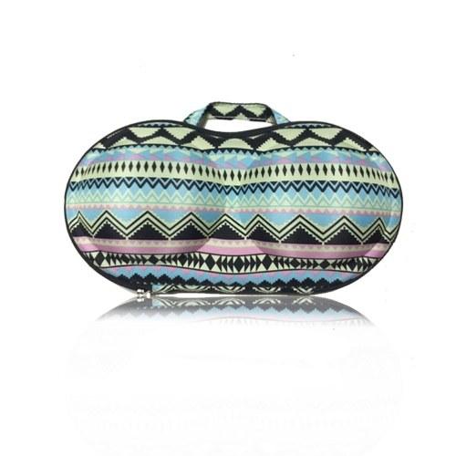 Красочный шаблон нижнего белья хранения Box портативный бюстгальтер сумка с сеткой и ручкой для путешествия фитнес