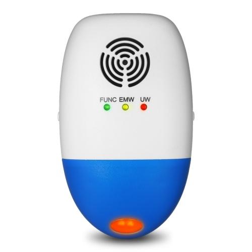 Электромагнитный ультразвуковой подключаемый мышь Контроль насекомых Отпугиватель Электрический паштет с отвращением от тараканов с ночным светом AC110-250V