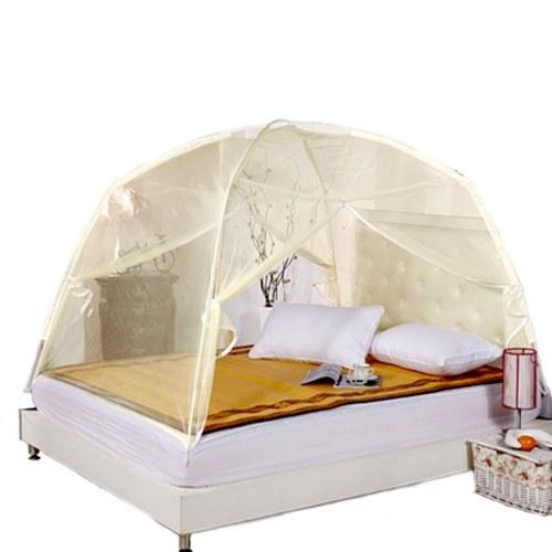 Cama de insecto de malla plegable de verano Bi-parting Mongolia Yurt Mosquito Net