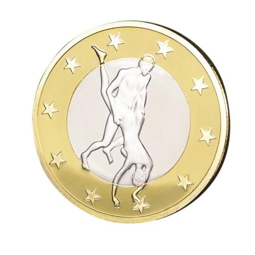 1pcs regalo della moneta dell'oro del medaglia delle medaglie del sesso della novità della Germania