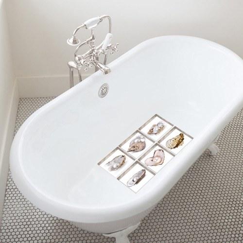 6 шт / набор ПВХ наклейки для ванной