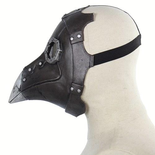 Máscara facial do pássaro do punk da cara cheia do látex