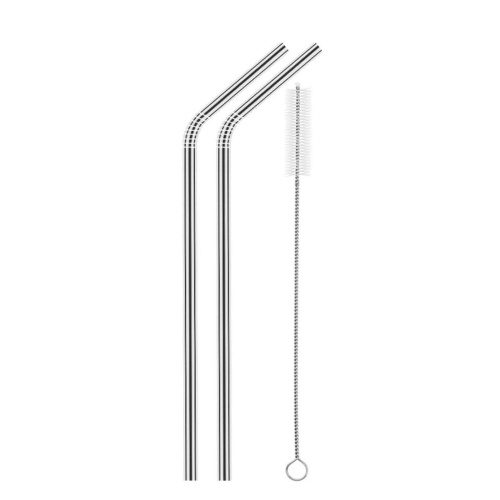 2pcs Stainless Steel Straws