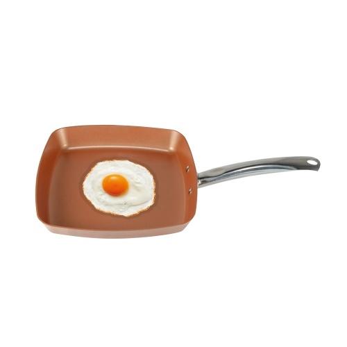 Кастрюля квадратная медная обжарка жарочная посуда (18,5 * 10,2 * 2,36 дюйма) H22398-1