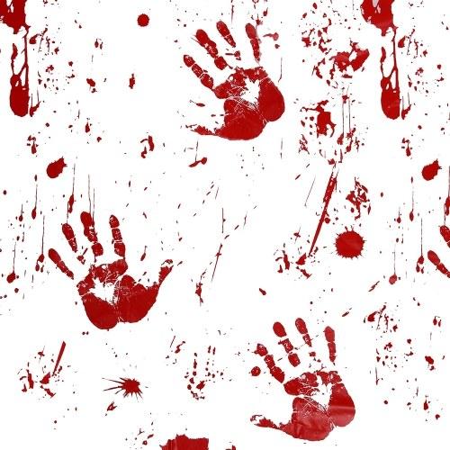 Horror Blut Tischdecke Blutige Handabdruck gedruckt Muster Tischdecke