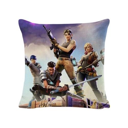 Fortnite Game Animation Peripheral Soft Square Pillowcase