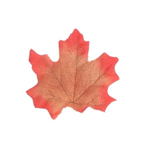 50Pcs Simulation Plant Photo Shoot Props Fake Silk Autumn Maple Leaves Artificial Fall Leaf