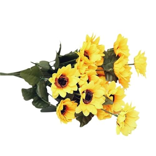Künstliche Seidenstoff-Blumen-Blätter
