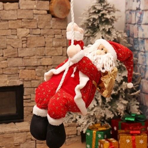 Regalos de Navidad Decoración Telas de dibujos animados Santa Claus