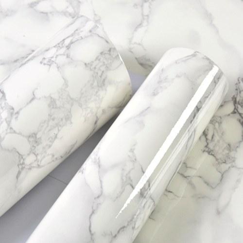 Papier peint auto-adhésif démontable résistant à l'humidité de modèle de marbre de 2m