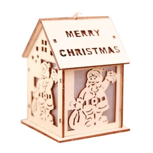 Boże Narodzenie dekoracyjne LED Light drewniany dom