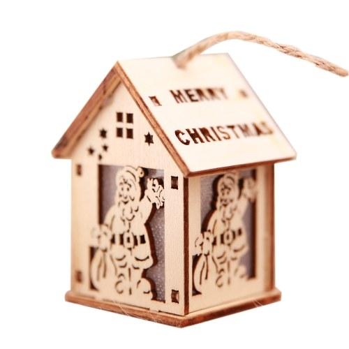Casa di legno leggera decorativa di Natale LED