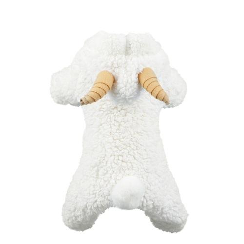 Doux Chaud Chien Pet Vêtements Vêtements À Capuche Corail Polaire Petits Chiens Manteau De Chiot Quatre Pieds Conception Belle Mouton Cosplay Costumes