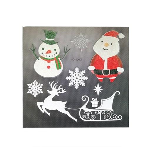 クリスマスペーパーステッカーの装飾