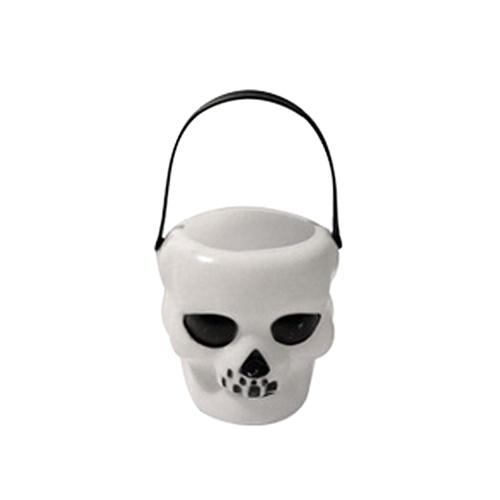 Halloween Decor Witch Cauldron Portable Skull Candy Kettles