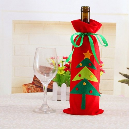 Christmas Tree Snowman Design Wine Champagne Bottle Cover