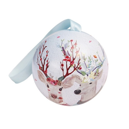 Iron Spherical Fashion Candy Box Ball Christmas Storage Jar Storage Cans Hotel