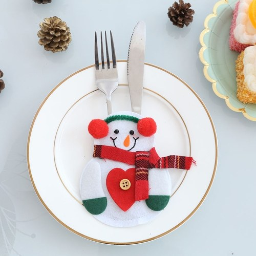 6pcs/set Christmas tableware Bag Holder Party Decorations