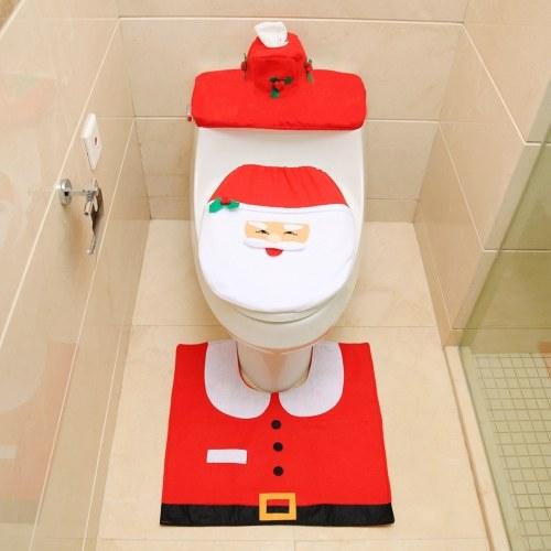 Новогодние украшения для ванной комнаты