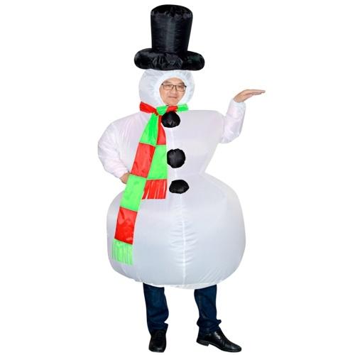 Vestido inflável inflável da explosão do suporte do traje do boneco de neve dos adultos