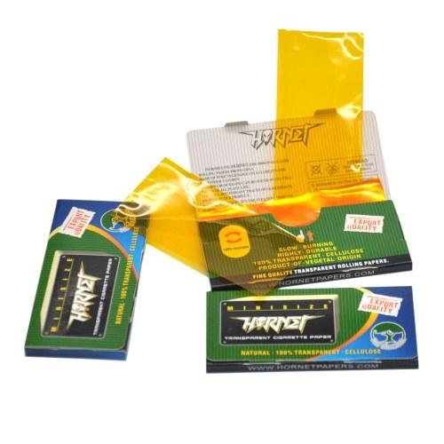 78mm 50 unids / folleto Natural 100% Papel de enrollar transparente