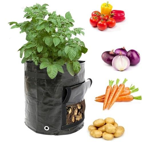 7 Gallons Garden Bag with Handles UV Protection PE Planting Grow Bag