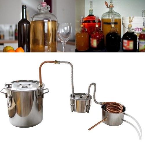 Kit de brassage de la chaudière à vin avec fruits en acier inoxydable, 10 litres