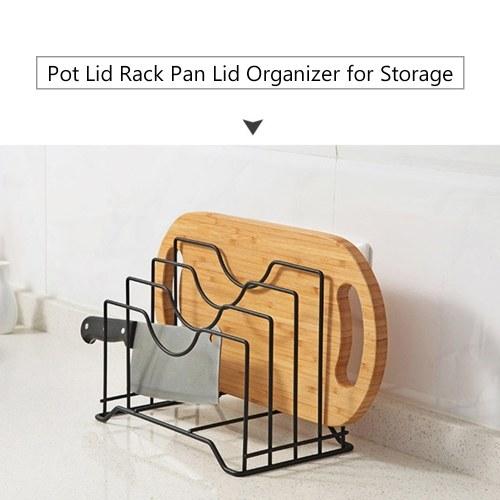 Organizzatore per coperchio per rack con coperchio per vaso da 2 pezzi