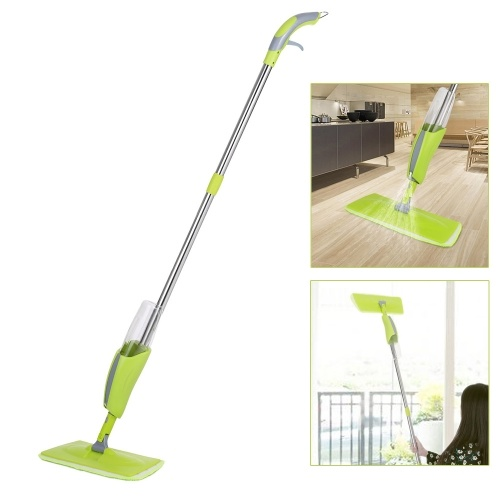 Household Stainless Steel Pole Floor Mop Quick Sweep Cleaning Tool with 380ml Water Bottle