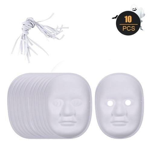 Maschera di carta bianca fai da te di Halloween