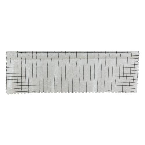 Valance Grid Stripe Style Blackout Window Curtain