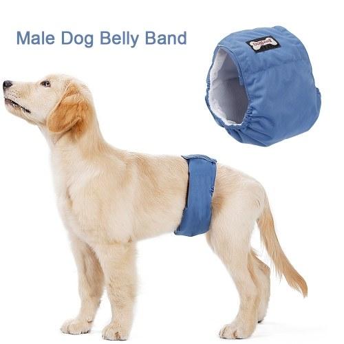 Waschbare männliche Hundebauchband Wrap