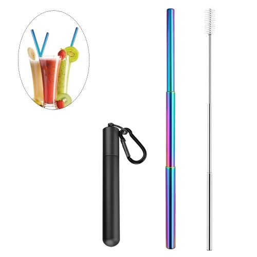 Portable Collapsible Straw Reusable 304 Stainless Steel