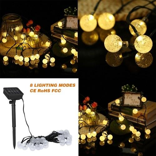 Luces solares de cadena 19.7 pies y 30 LED de luz de cuerda