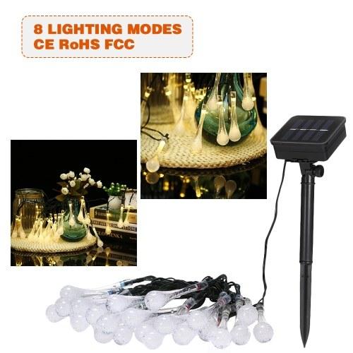 Luz de cuerdas con luz solar de 19.7 pies y 30 LED