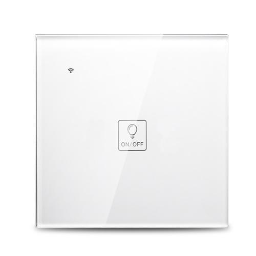 Wi-Fi Smart Wand-Touch-Lichtschalter Sprachsteuerung mit Glasscheibe Kompatibel mit Alexa Google-Startseite