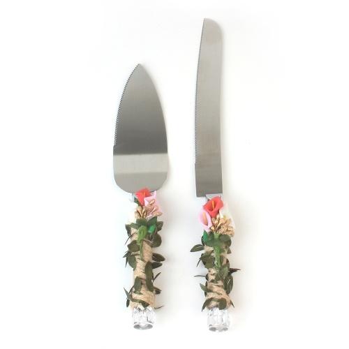 Stainless Steel Wedding Cake Knife & Server Set