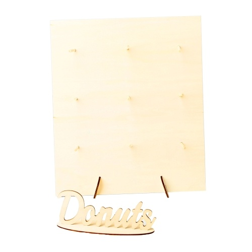 Support en bois de beignet de décoration de ménage délicate portable