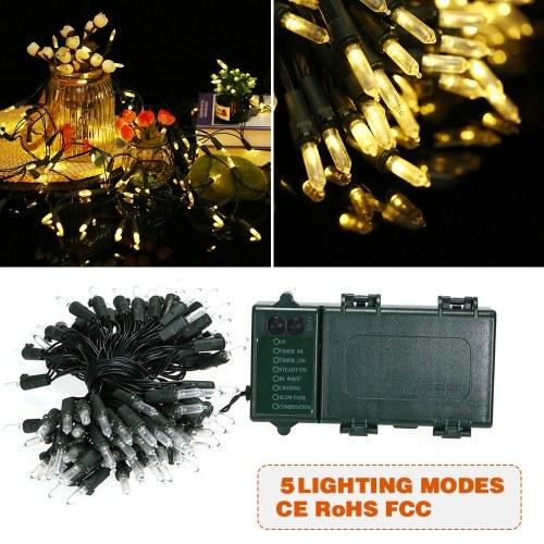 Luces de cuerda 39 pies 100 LED luz de cuerda