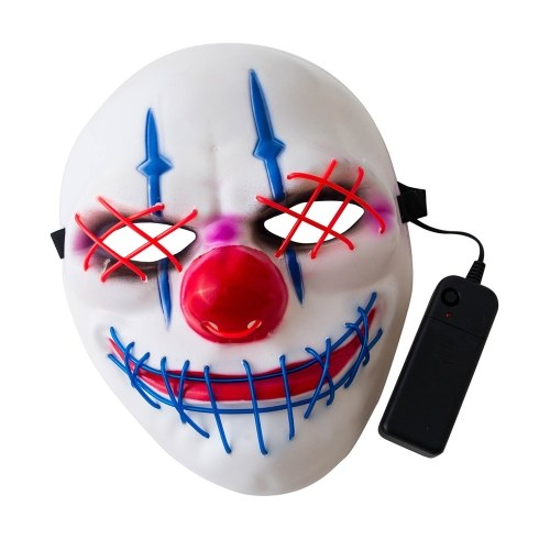 Lighted Mask Scary Terror Party Funny Cold Light Illuminating Mask фото