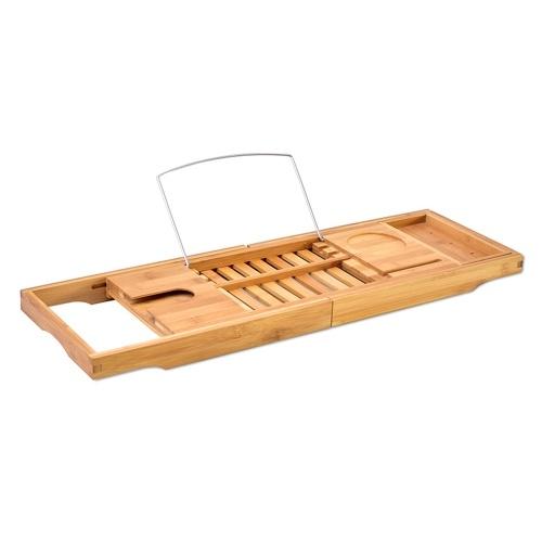 Bathtub Caddy Tray Bamboo Spa Bathtub Caddy Organizer