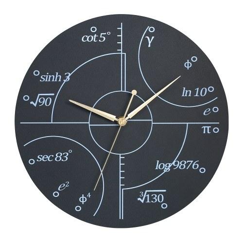 Creative Wall Clock Style Wooden Math Clock