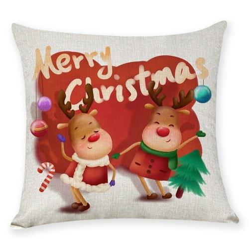 Pillow Cover Christmas Tree Cartoon