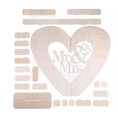 Mr & Mrs Heart Shape Chocolate Expositor