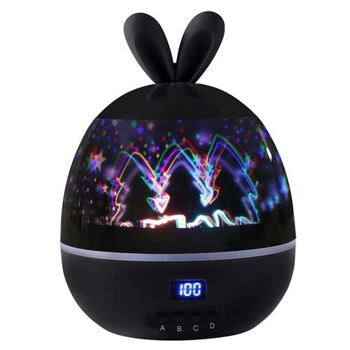 Projecteur fluorescent de lapin de lampe de projection tournant de lumière d'étoile de synchronisation tournant