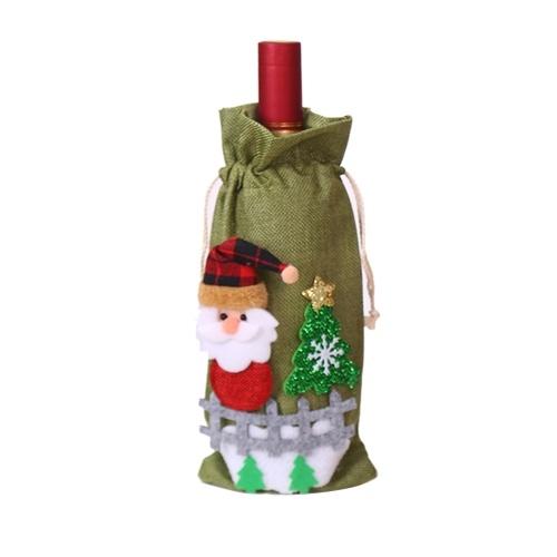 Weihnachten Weinflaschenbezug Champagner Weinflaschenbezug
